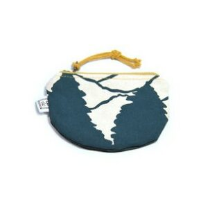 teal mountain canvas coin purse, handmade waxed canvas coin purse