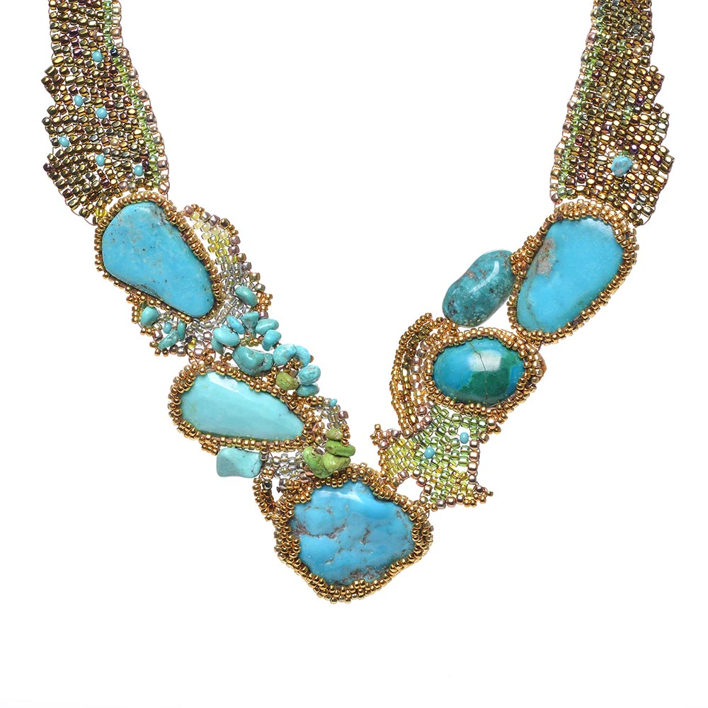 Rhapsody in Blue Turquoise Necklace by Amolia Willowsong