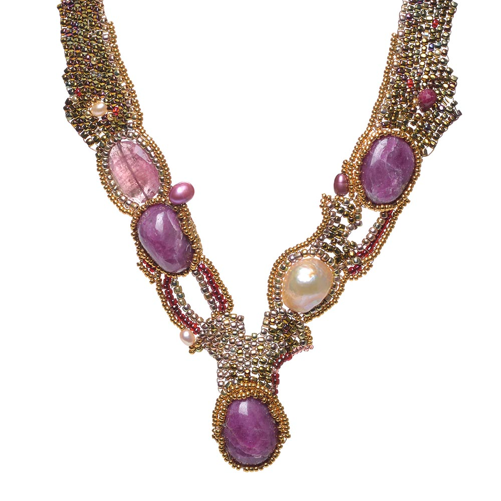 Summertime Amethyst Necklace by Amolia Willowsong