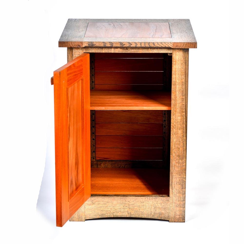 handmade cabinet with open door, handmade wooden furniture, nc made furniture