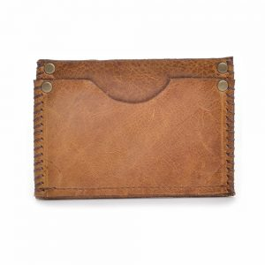 handmade leather pocket card holder, small men's wallet, leather pocket wallet
