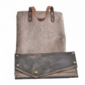 left snap wallet, gray and black leather wallet