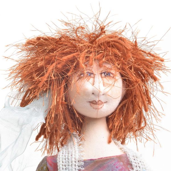 red headed handmade doll