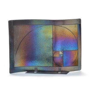 curved fused glass plate, modern glass room decor, unique handmade decor, folk art center, glass artist