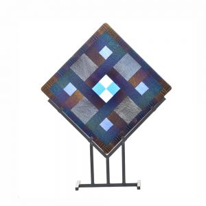 fused glass art piece, fused glass artist,