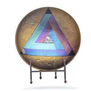 penrose, fused glass, geometry art, modern glass art, folk art center, tn glass artist