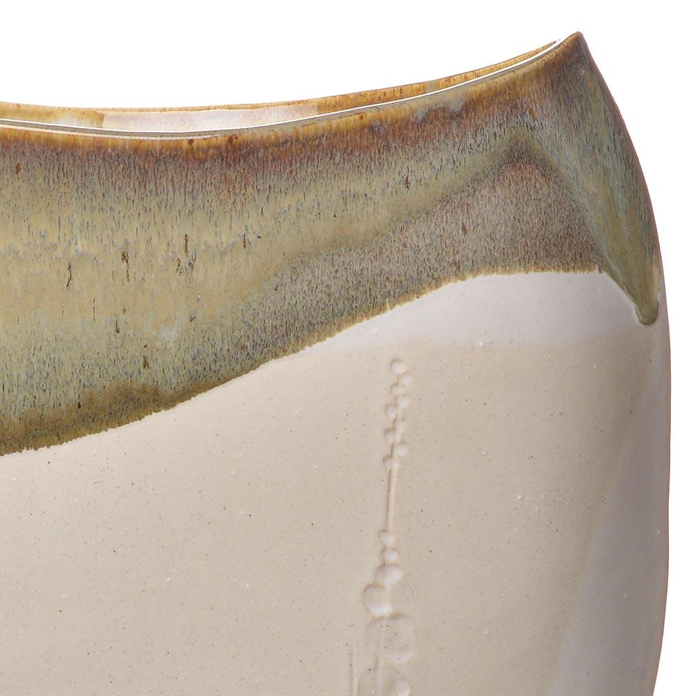 large cherry blossom vase, handbuild white vase