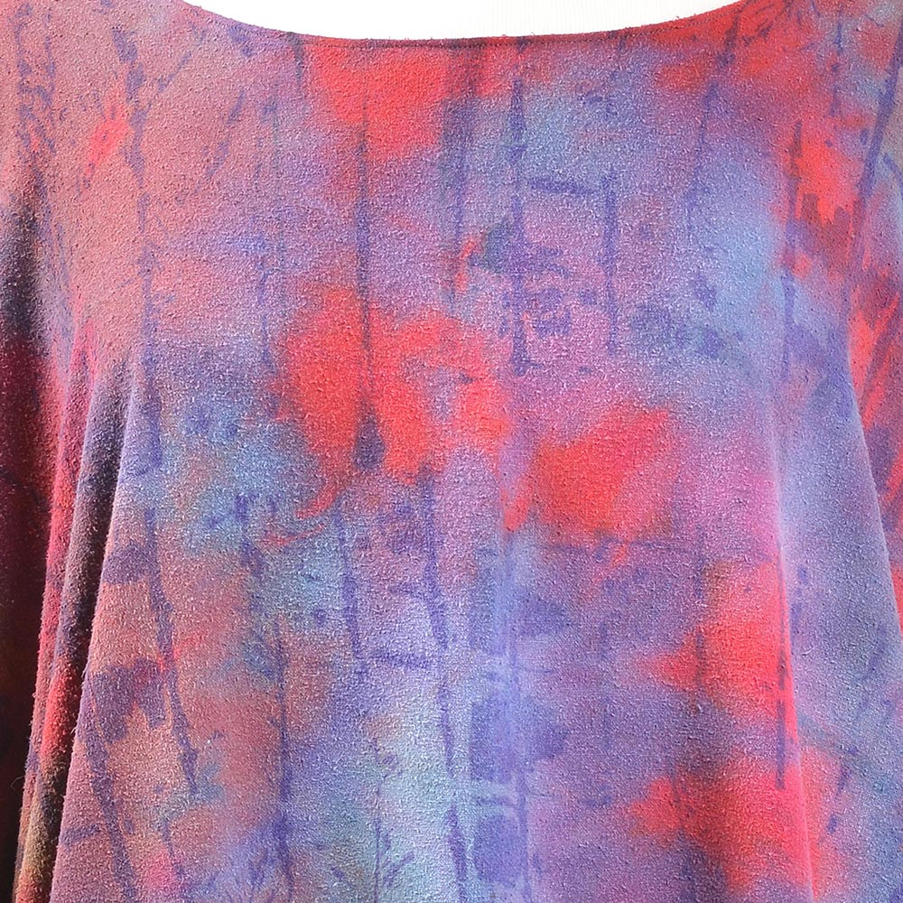 detail of hand dyed silk top, handmade silk clothing, handmade womens clothing