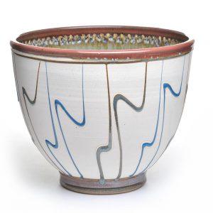 large mixing bowl, handmade deep ceramic mixing bowl,