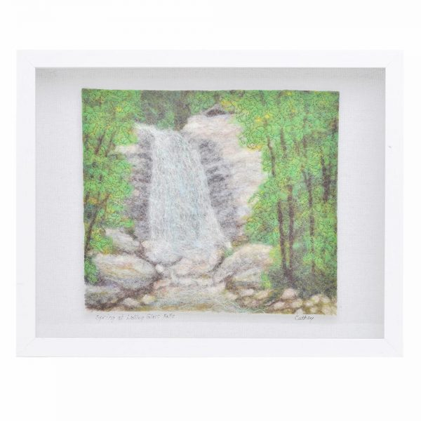 looking glass rock, appalachain mountain art, western north carolina art, mountain home art, waterfall landscape