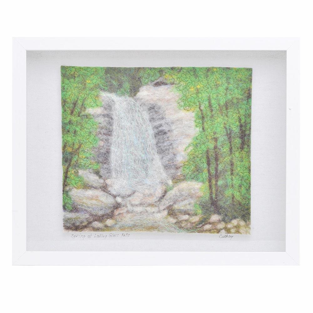 looking glass rock, appalachain mountain art, western north carolina art, mountain home art, waterfall landscape