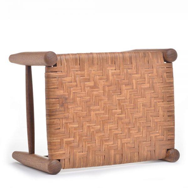 handmade wooden footstool, tn woodturner