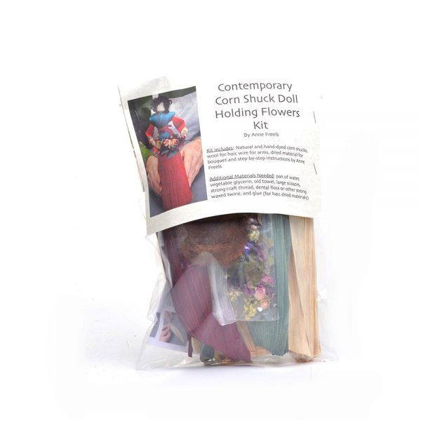 handmade corn shuck doll kit, traditional doll kit