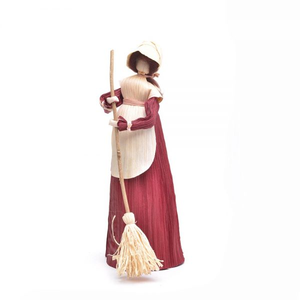 sweeping corn shuck doll, southern appalchia craft, traditional crafts, mountain crafts