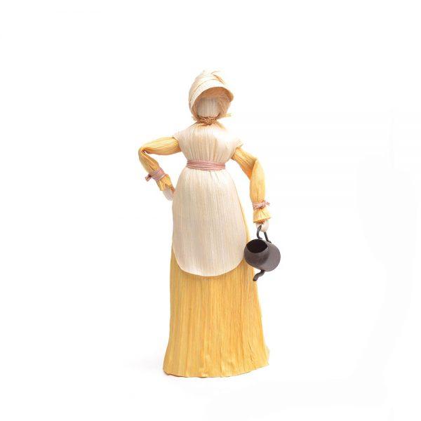 yellow corn shuck doll,