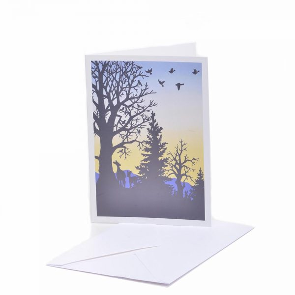mountain notecards, handmade blank cards,