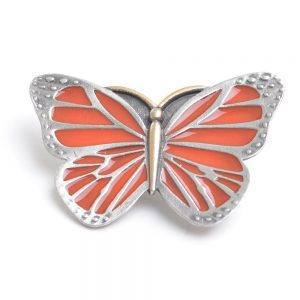 monarch butterfly, orange monarch enameled pin, nature pin, affordable pewter jewelry