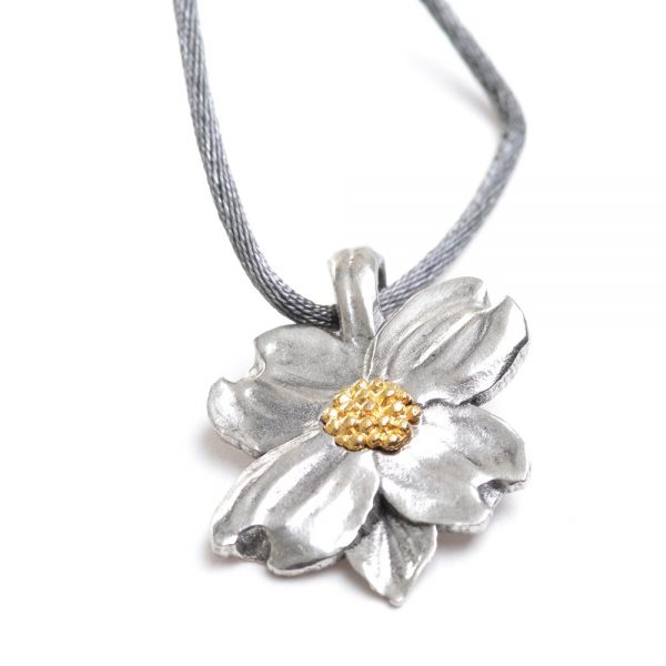 dogwood necklace, affordable nature jewelry