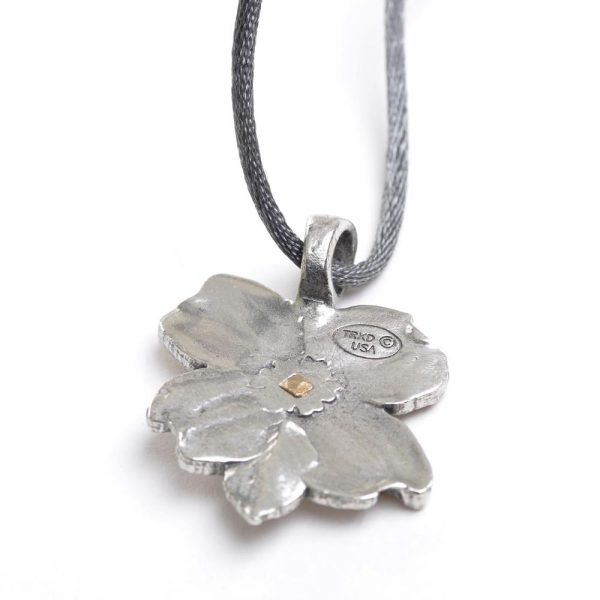 back view of dogwood necklace