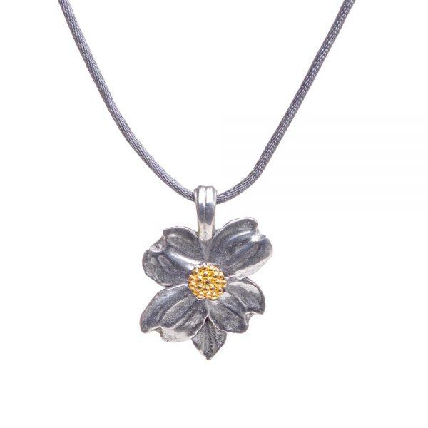 dogwood pendant, affordable nature jewelry, nc tree