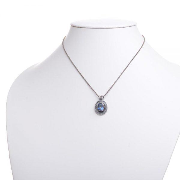 mystic topaz handmade pendant