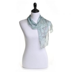 false indigo silk scarf, hand dyed silk scarf with natural dyes