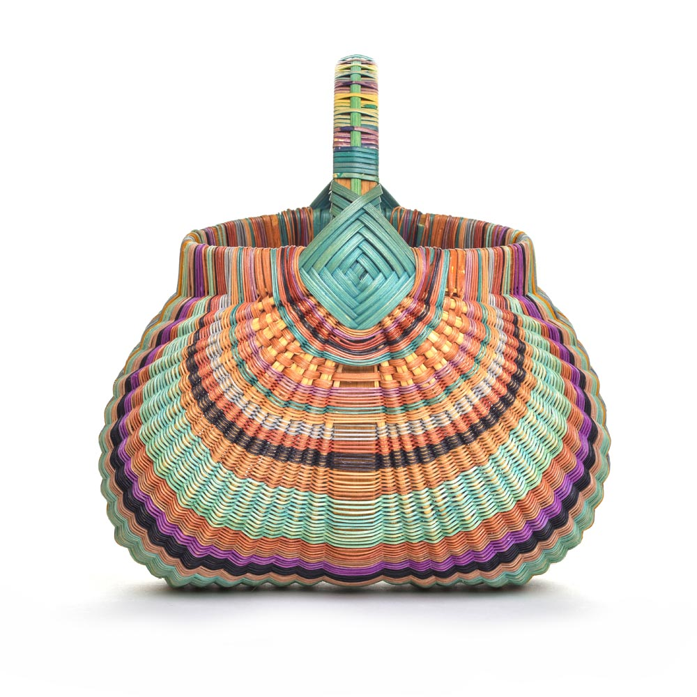 colorful handmade basket, billie ruth sudduth,