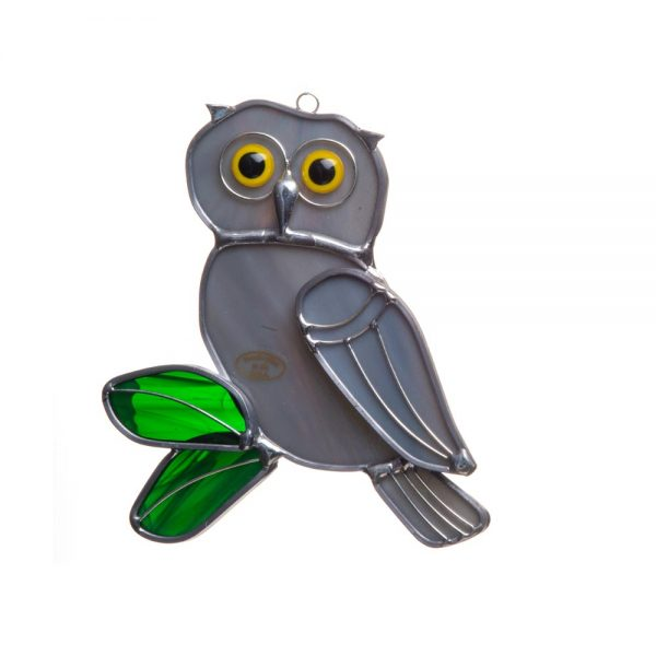 gray owl suncatcher, cheap gift, owl collection