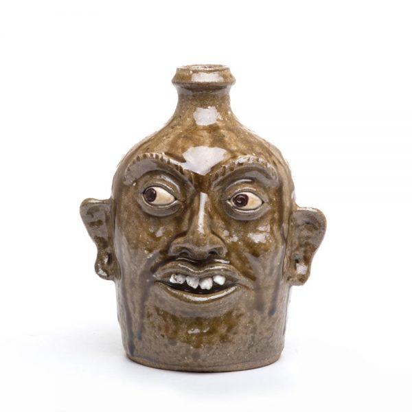 face jug, traditional pottery, jugtown pottery, appalachian crafts