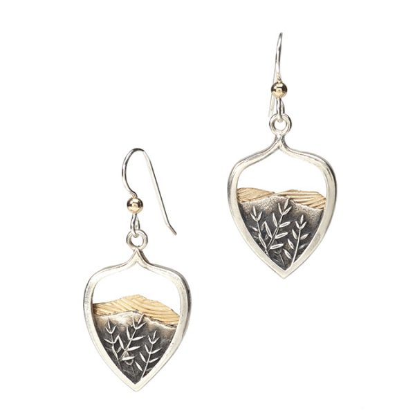mountain earrings with french ear wires