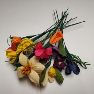 handmade cornshuck flower bouquet