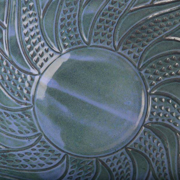 inside detail of slab bowl by Doe Ridge Pottery