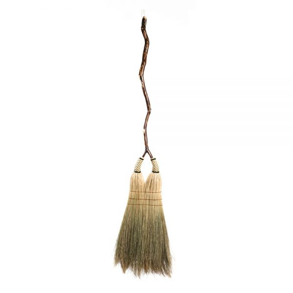 double broom, handmade broom, traditional mountain crafts