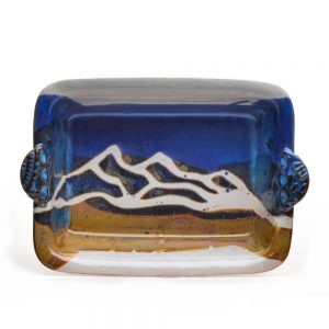 ceramic mountain baking dish, doe ridge pottery