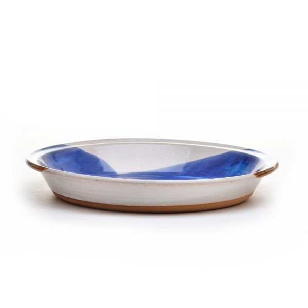 handmade ceramic pie plate side view