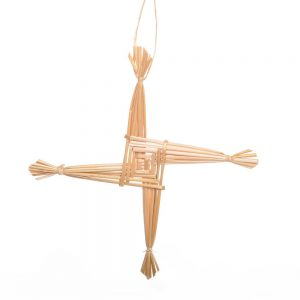 simple handmade wheat cross house blessing