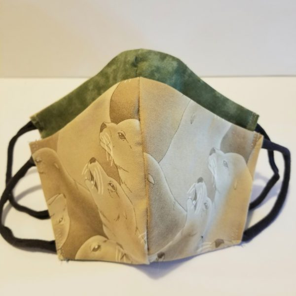 handmade cotton face mask with filter with seals