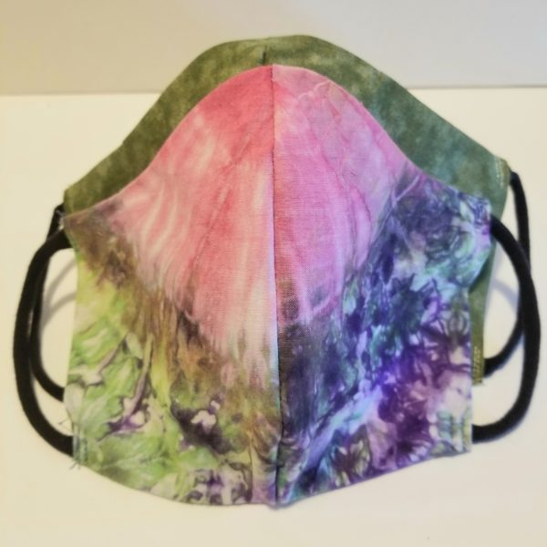 tie dye handmade cotton face mask
