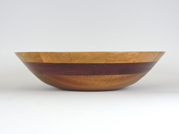 segmented handmade turned bowl