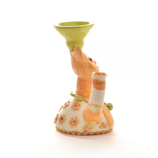 ceramic cat sculpture, whimsical cat vase