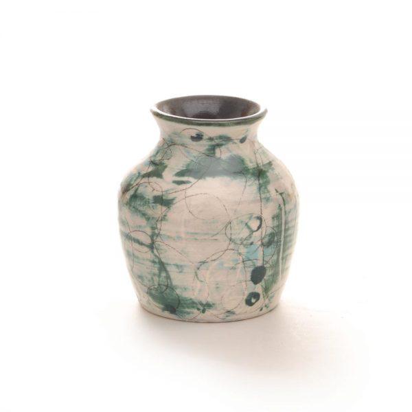 blue green bud vase, fly coop studios