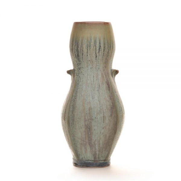 stoney blue wheel thrown vase