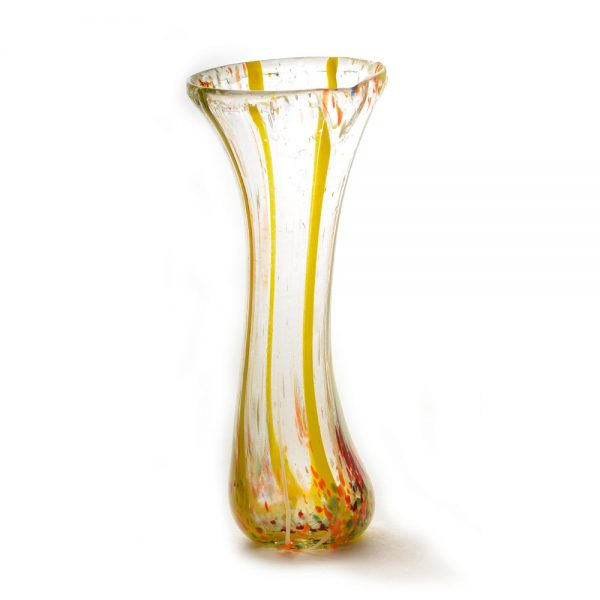 tall thin glass handmade vase