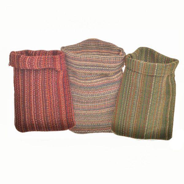 handmade multicolored cotton pot holders, old va textiles pot holders