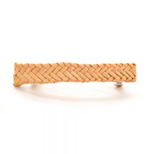 herringbone woven wheat barrette