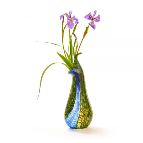 waterfall orchid vase by michael hatch of crucible glassworks