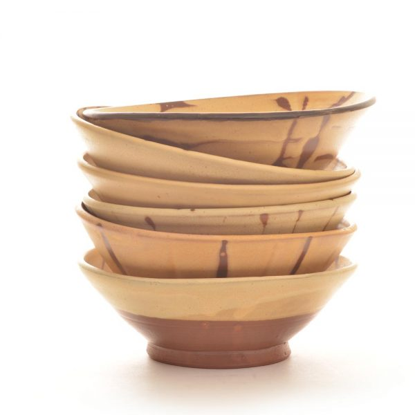 stack of handmade ceramic pasta bowls, stoneware handmade pasta bowls