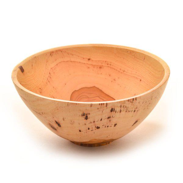 turned handmade pecan bowl