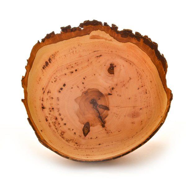 turned natural edge pecan bowl