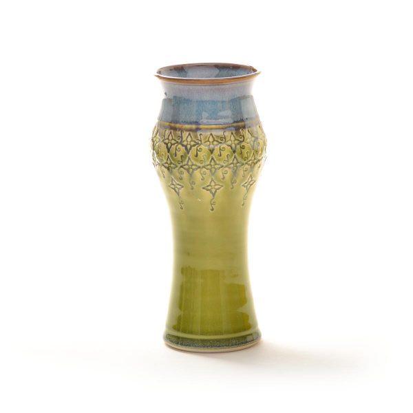 medium sized thrown and stamped amphora vase